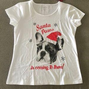 NWT Girls Christmas T-shirt Size XL (18)